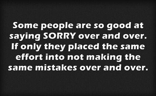 behavior sorry