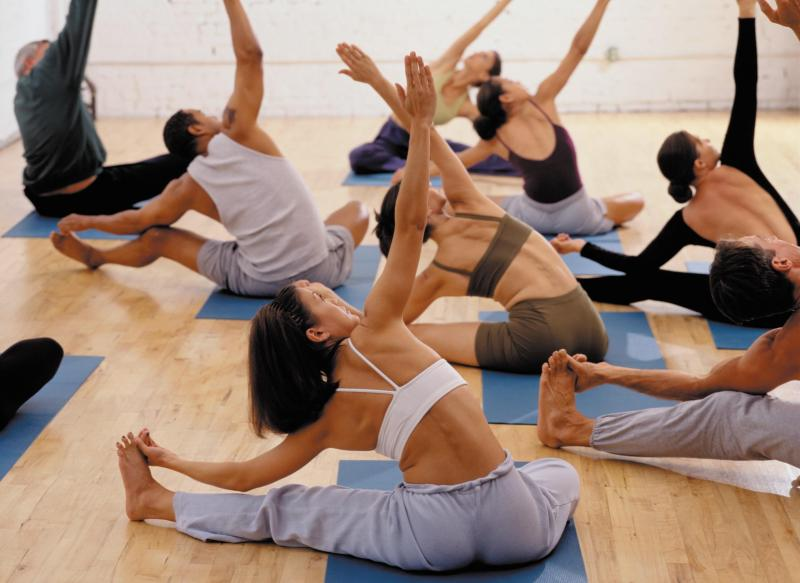 exercise yoga class