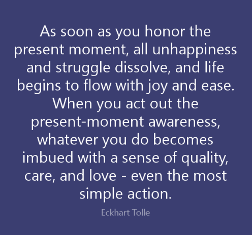 Eckhart Tolle Living in the Present