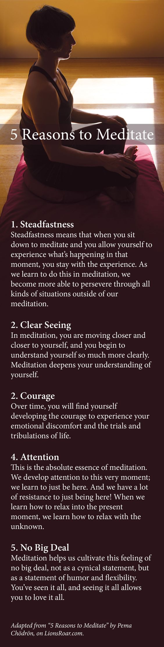 5 reasons to meditate