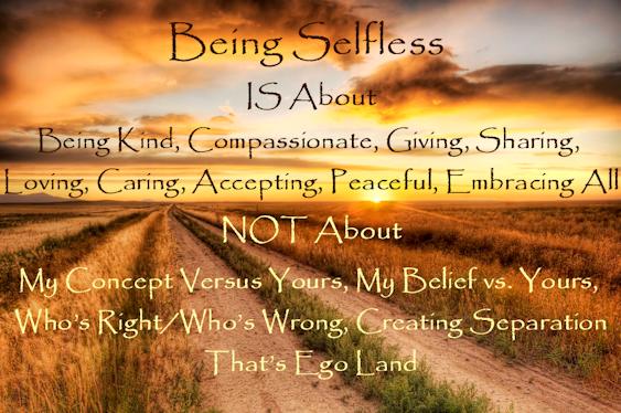 Selflessness