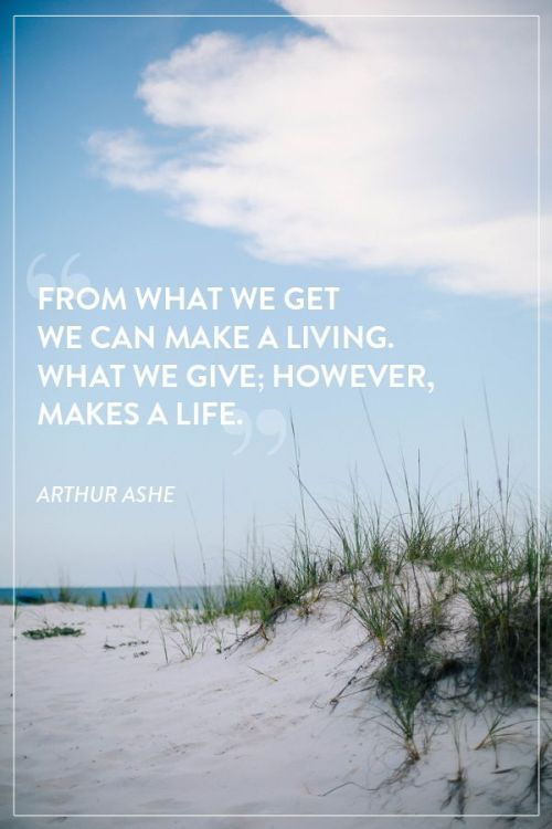 arthur ashe from what we get