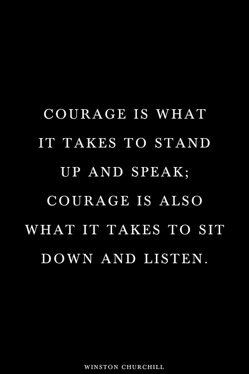 churchill - courage
