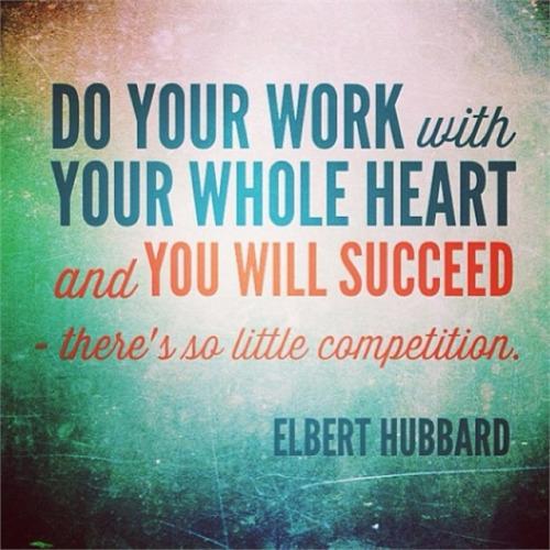 elbert hubbard - do your work