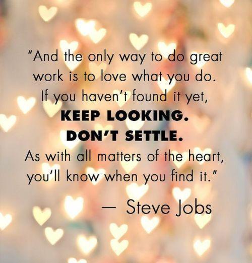 steve jobs - love what you do